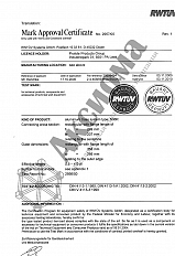 Certificate of Compliance of aluminum suspension system
