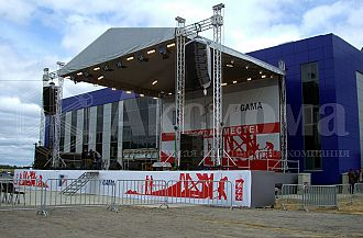 Podium and stages